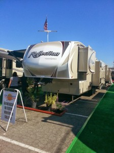 The Reflection by Grand Design. as seen at the Pomona Fairplex RV Show in late October 2013