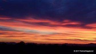 Sunsets in the desert