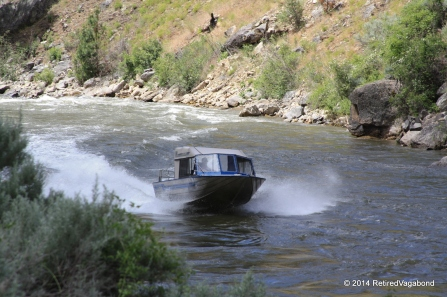 River Boat Fighting Up Stream