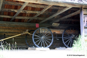 Everything brought on wagons