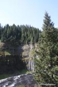 Upper Mesa Falls Idaho, drop off over 114 feet