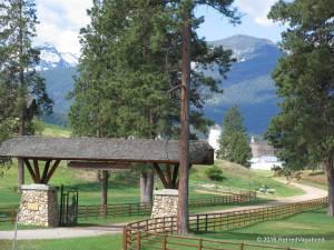 Ranch Entrance and Barns