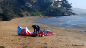 Wind Surfer Preparing