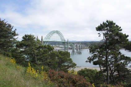 Yaquina Bay Bridge in Distance