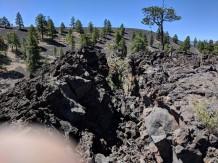 Lava flow near camp