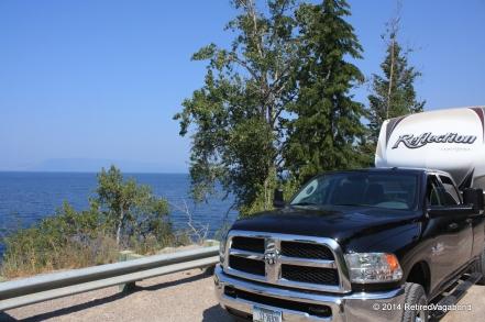 Flathead Lake - lunch break traveling South,