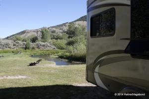 Camp next to Grasshopper Creek