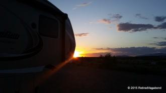 Sunset Demming New Mexico - El Rancho Lobo Park